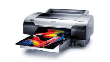 Impressora de prova usada para verificar cores