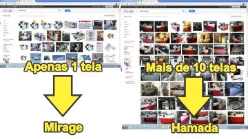 comparação Hamada X Mirage