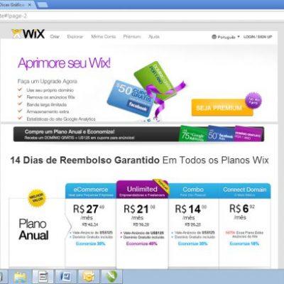 Wix – Conta Premium